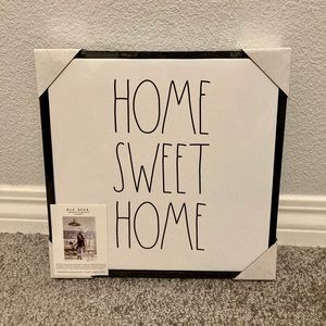 Rae Dunn HOME SWEET HOME Wood Frame Canvas Sign